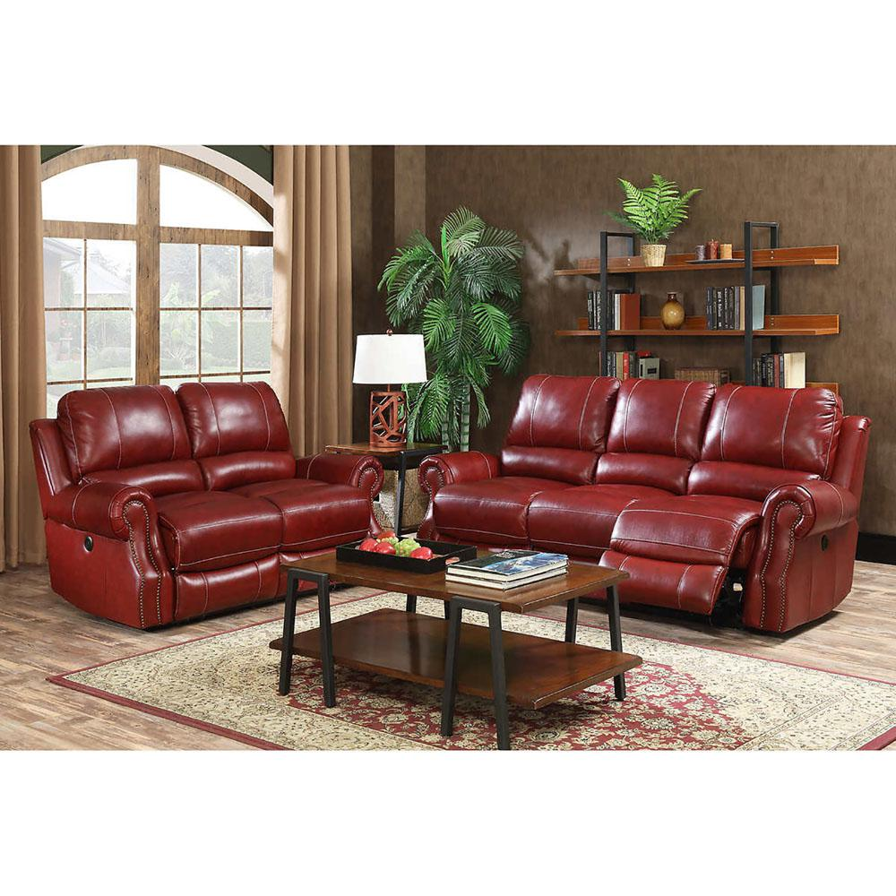 Furniture Exquisite Cheap Living Room Furniture Sets For: Cambridge Rustic 2-Piece Wine Sofa And Loveseat Living