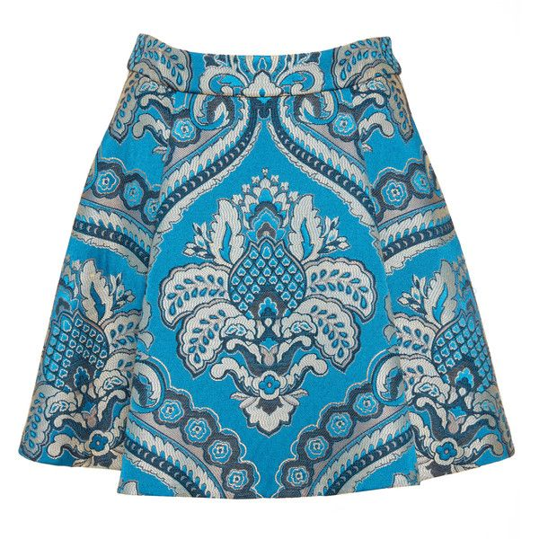 Alice + Olivia Vernon Mini Skirt (£61) ❤ liked on Polyvore featuring skirts