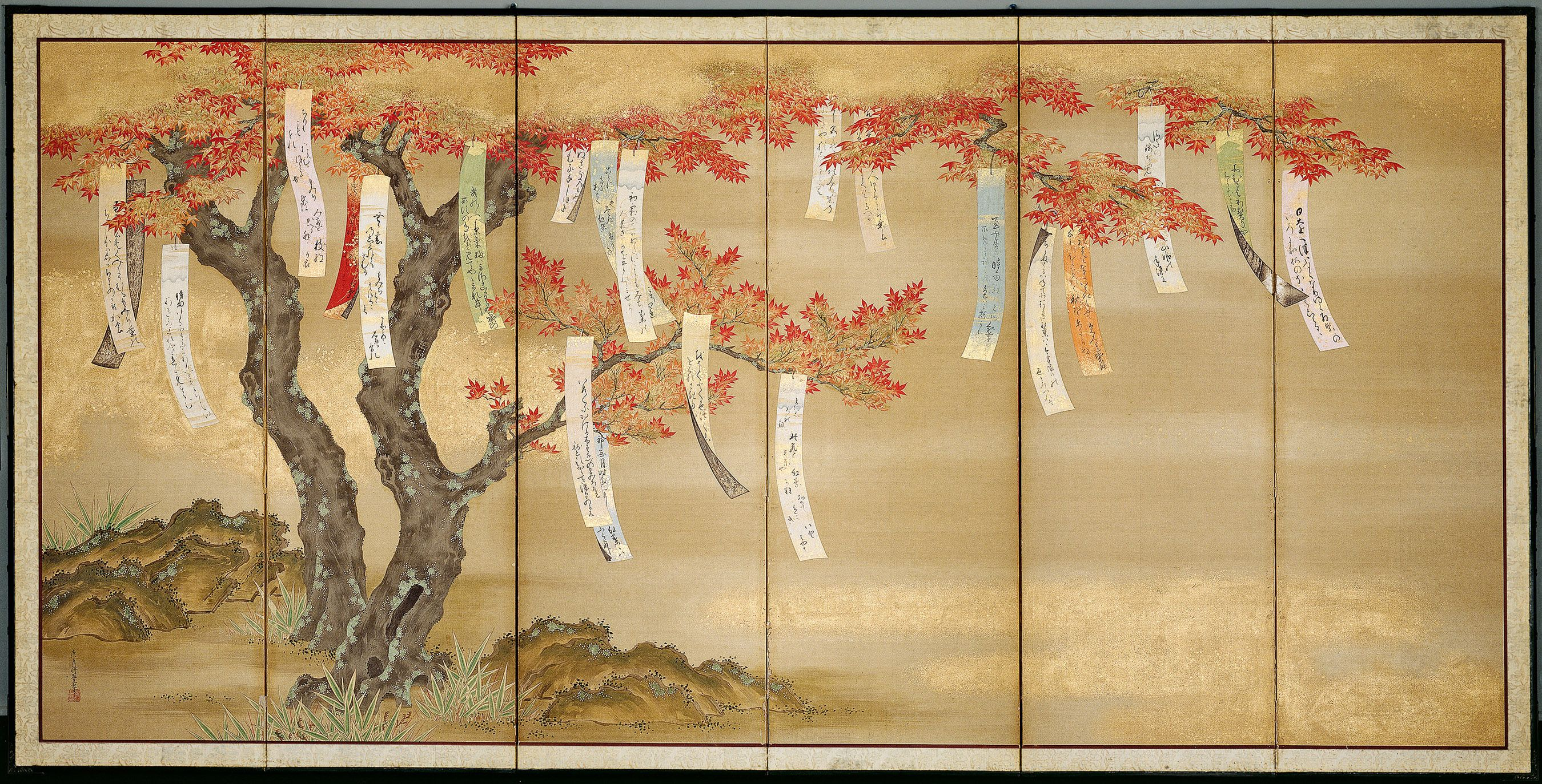 Color in japanese art - Final Days Beyond Golden Clouds Five Centuries Of Japanese Screens Asian