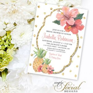 Tropical themed bridal shower invitations ideas tropical bridal 15 tropical bridal shower invitations details southbound bride filmwisefo Image collections