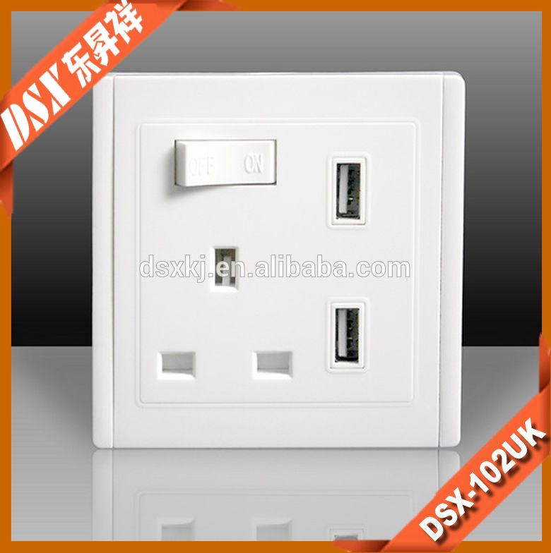 Dual Usb Ports Wall Socket With Switch-Dual Usb Ports Wall Socket ...