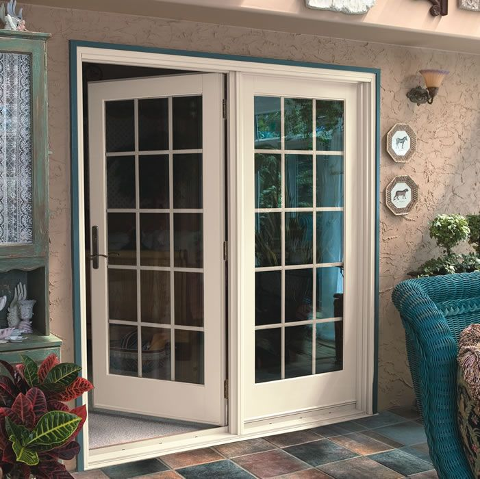 French Patio Doors with Screens Doors for cool weather protection to turn on ac screens for breeze on other times | hay barn | Pinterest | French patio ... & French Patio Doors with Screens Doors for cool weather ...