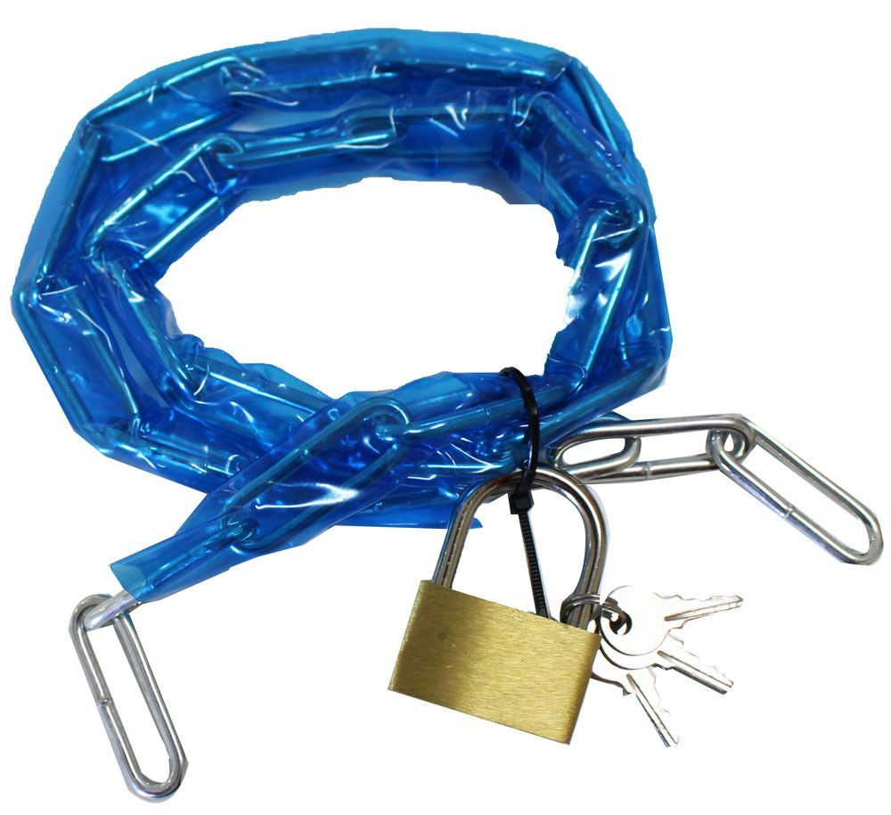 Covered Chain With Padlock : ( Pack of 1 Pc )