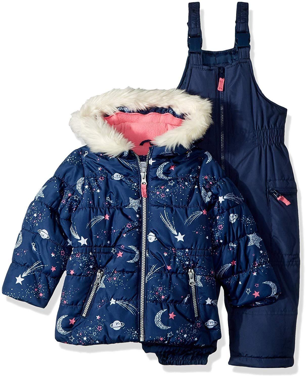 0d78a9d94df Carter's Girls' 2-Piece Heavyweight Printed Snowsuit #instagram  #babyaccessories #kidslookbook #babywear #matchingclothes #instakids  #kidsaccessories ...