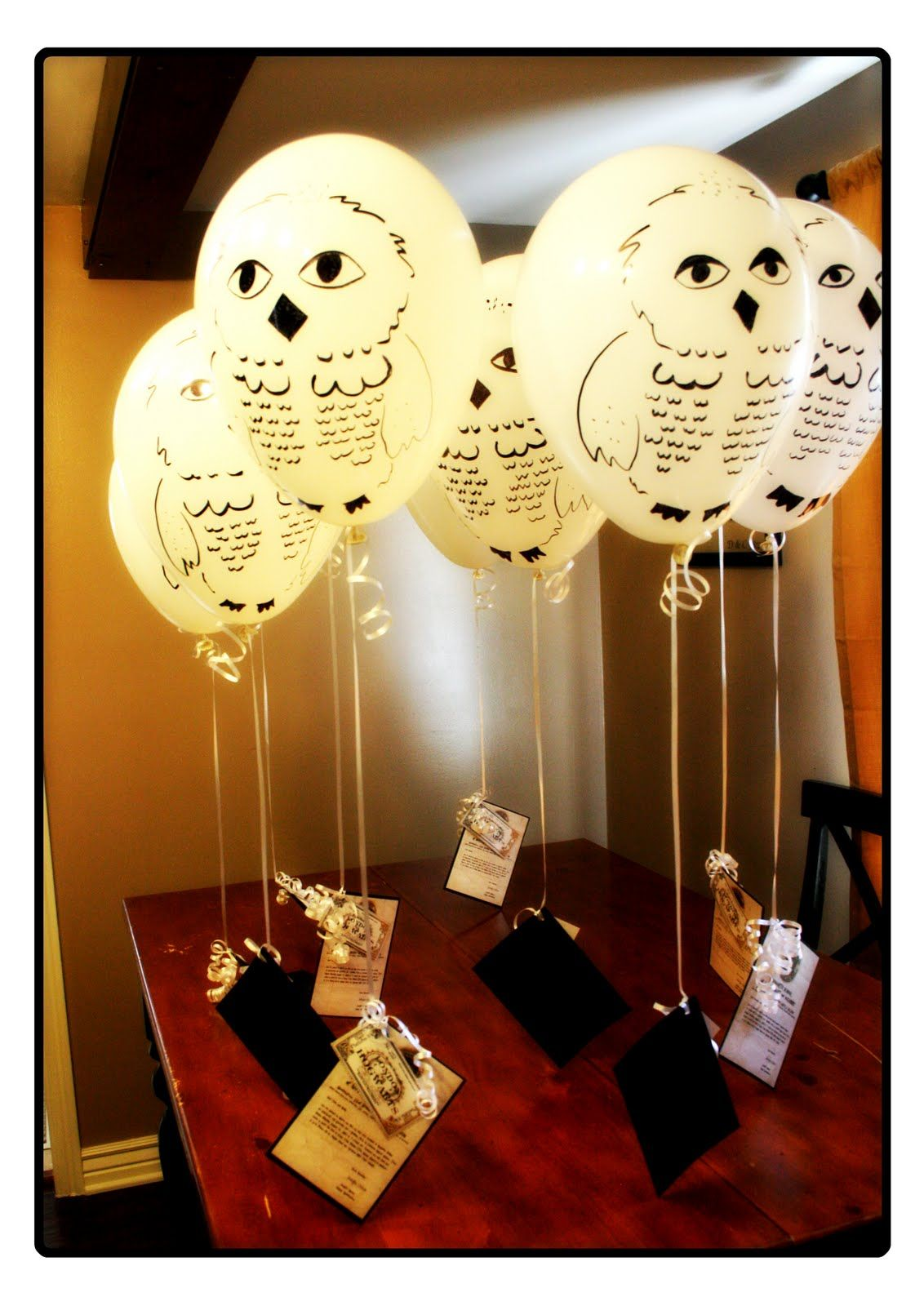 Hedwig Balloons Her Harry Potter Birthday Party | F Birthday ...
