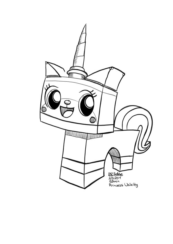 Daily Sketches Princess Unikitty By Fedde On Deviantart Lego Coloring Pages Unikitty Lego Coloring