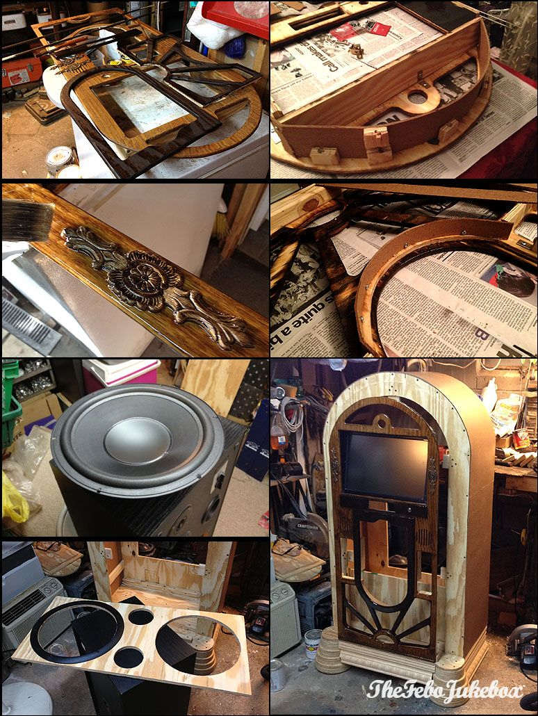 how to build a wood jukebox | Jukebox | Pinterest | Jukebox, Woods ...