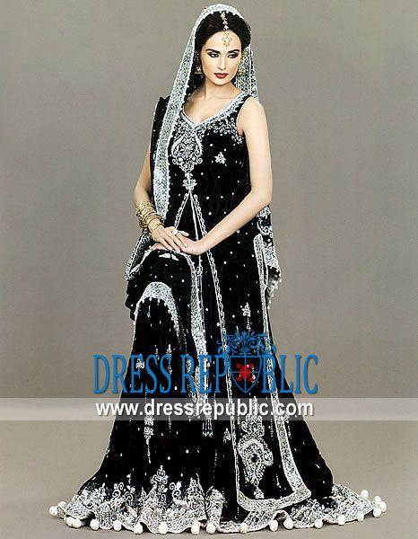 Black Pakistani Wedding Dresses Black Pakistani Design...