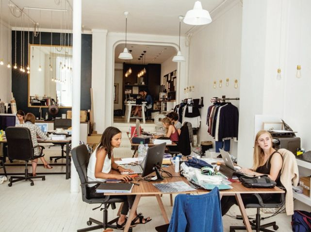 A quoi ressemblent les bureaux de sézane moda