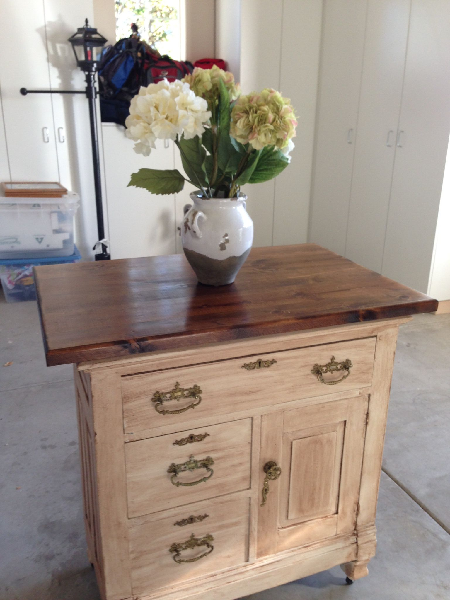 Turn A Dresser Into A Kitchen Island: Old Antique Dresser Turned Into Kitchen Island! My Mother