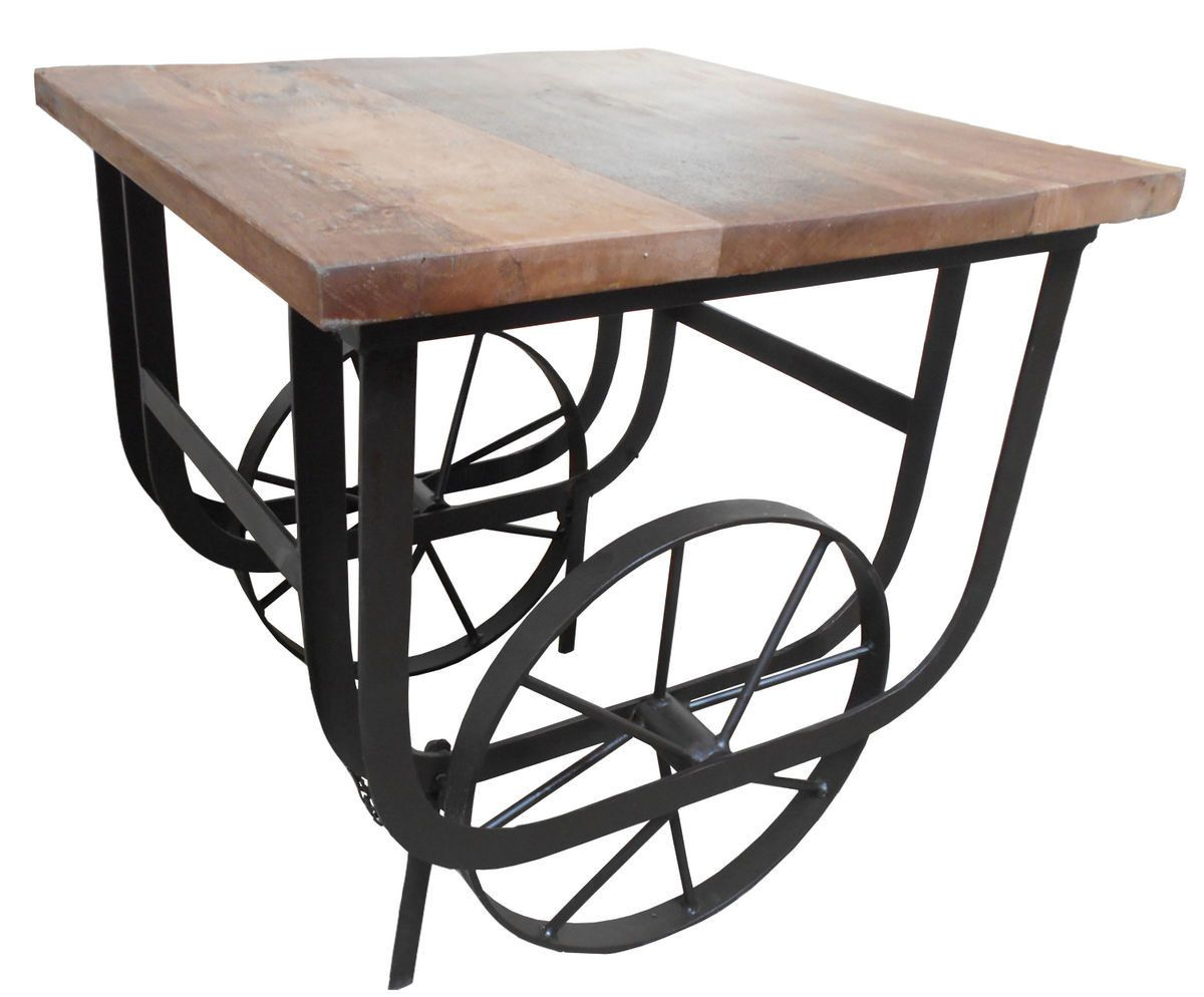 Bremerton End Table With Functional Wheels 3542 04