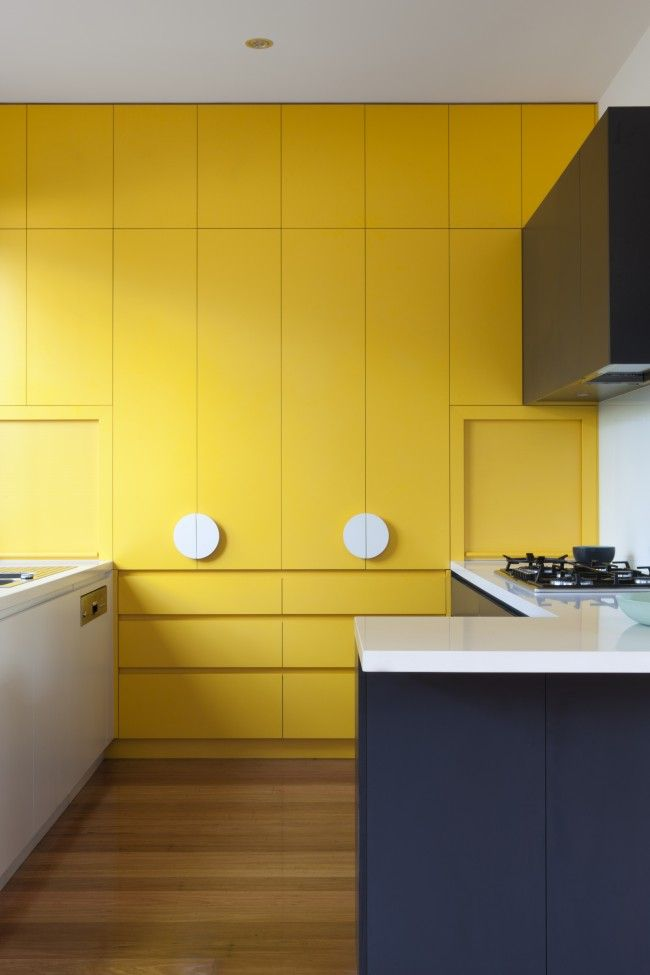 Kitchen design with a splash of yellow   Amarillo limón, Amarillo y ...