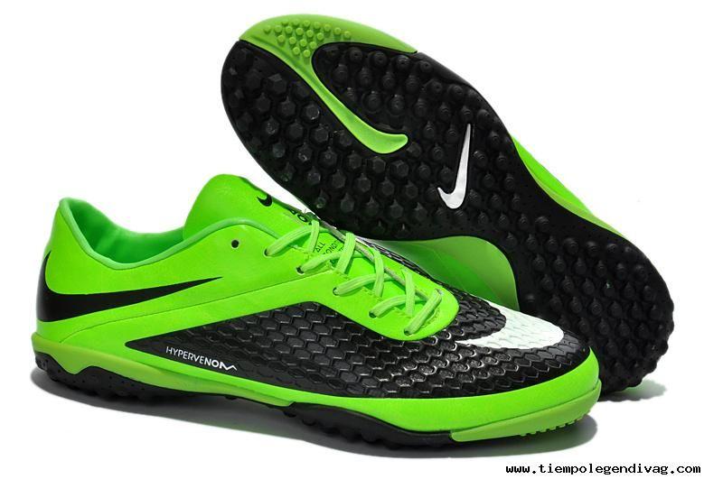 new products 5c11c 107a3 Fluorescent Green Black Nike Hypervenom Phelon TF Boots Football Boots