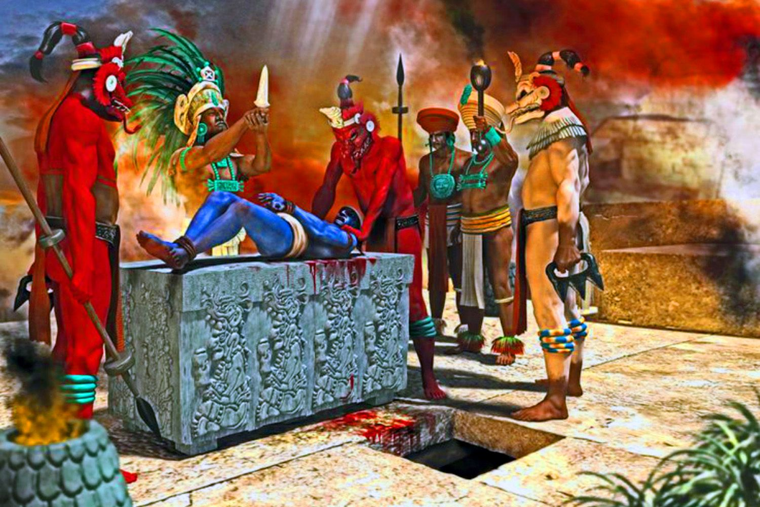 mayan sacrifice ceremony - HD 1500×1000