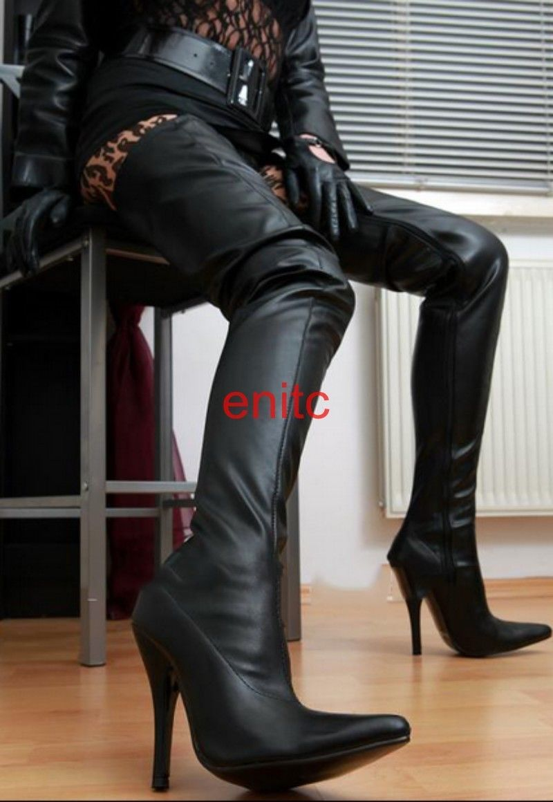 35de7d0408640 Europe Womens Leather Sexy Stiletto High Heel Shoes Over Knee Thigh Long  Boots in Clothing, Shoes & Accessories, Women's Shoes, Boots   eBay