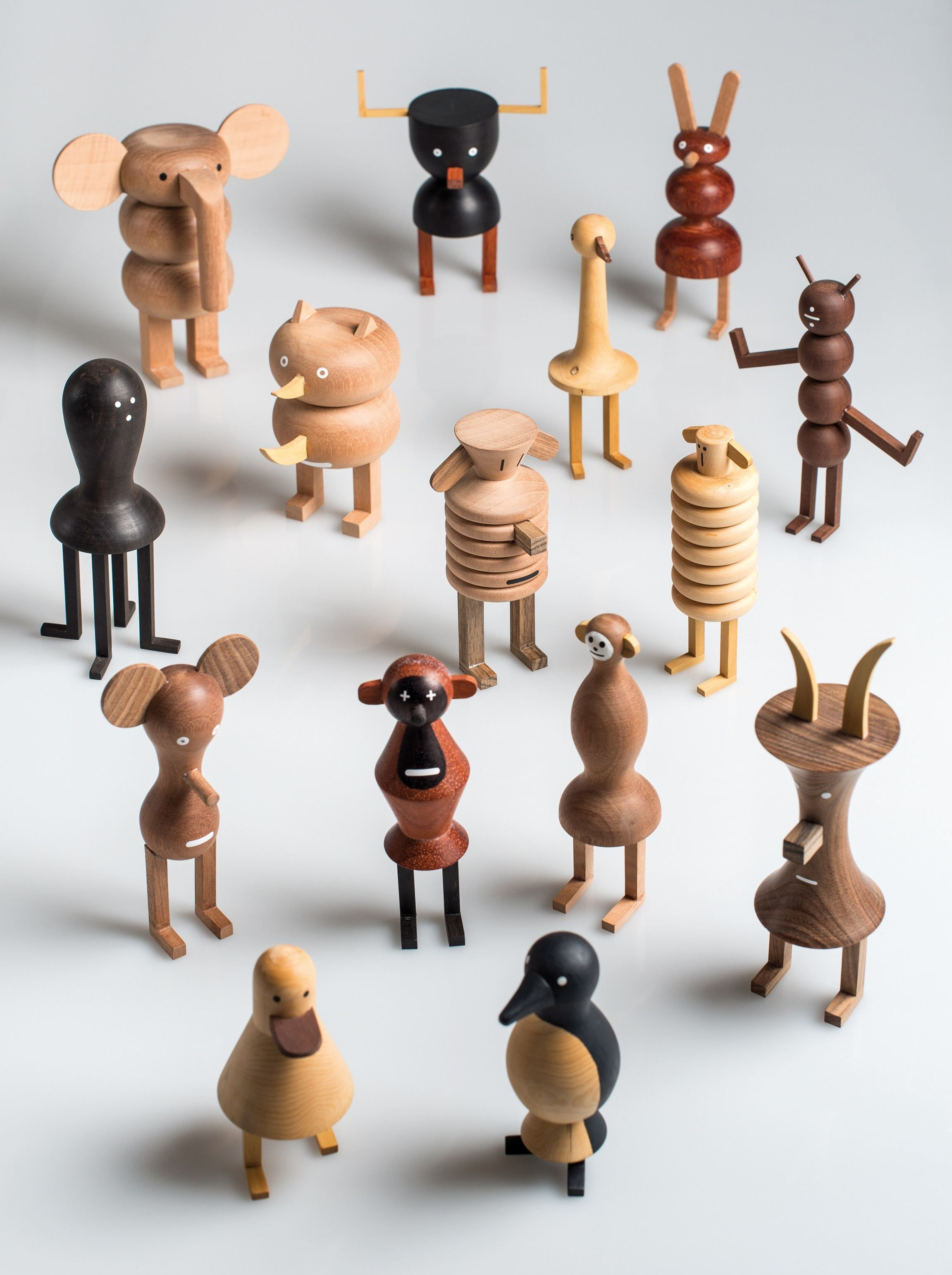 Wooden Sculpture Funny Farm By Lzf Design Isidro Ferrer Monster  # Muebles Hattori Design
