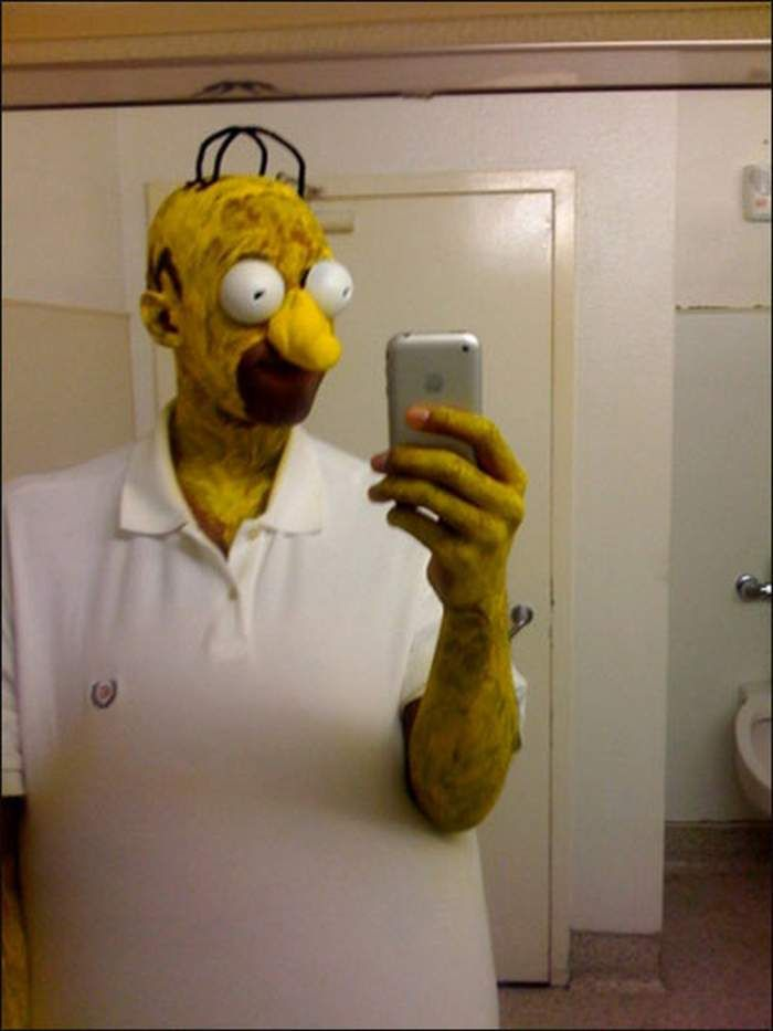 34 weird halloween costumes that gone quick viral scary homer simpson - Quick Scary Halloween Costumes