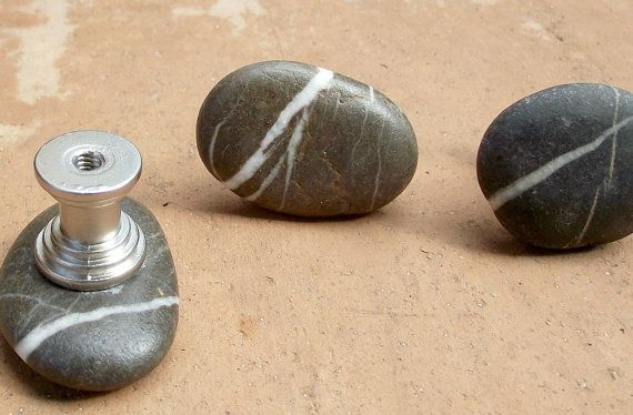 3 Beach Rock Door Pulls Unique Style Cabinet Pull From The