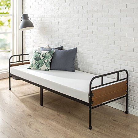 Zinus 30 Inch Wide Santa Fe Daybed Frame With Mattress Set