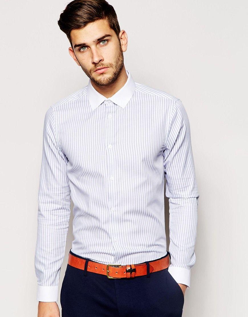 New+Look+Long+Sleeve+Shirt+in+Bengal+Stripe