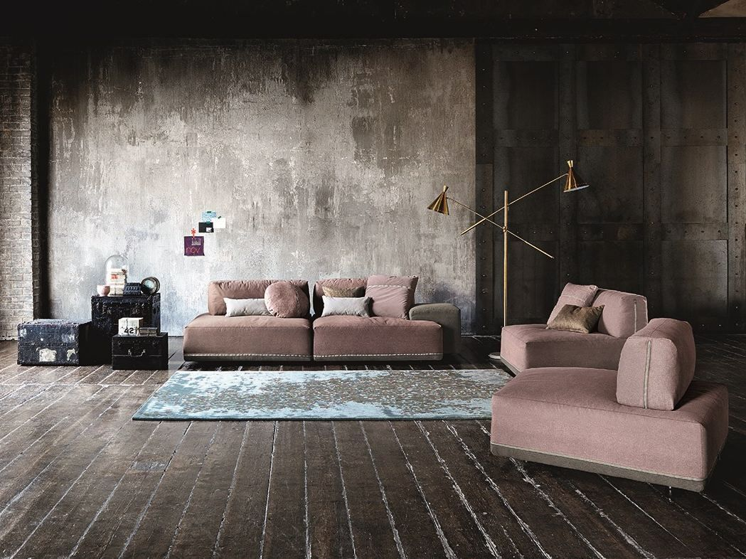 Modular fabric sofa sanders by ditre italia design stefano