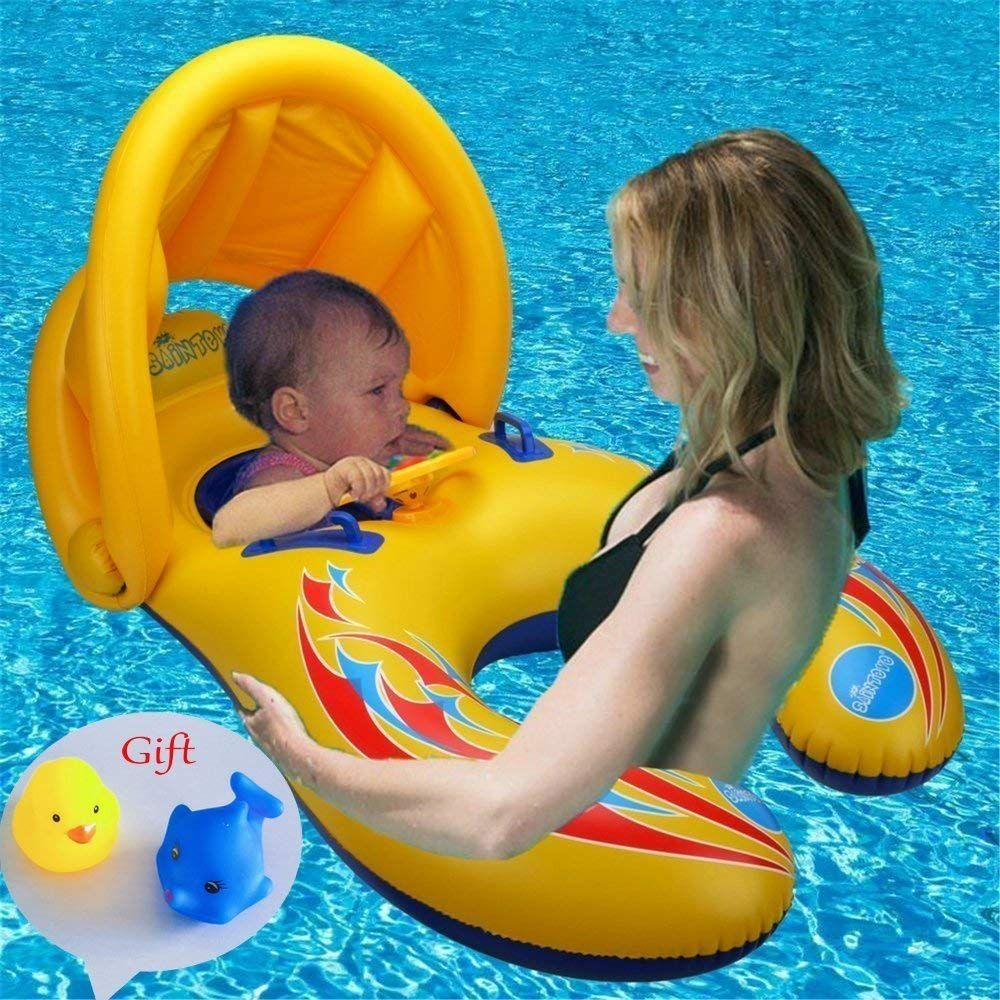 Zicosy Bouee Bebe Gonflable Swim Ring Mere Baby Swimming Pool Float Swimming Float Bouees Jeux Et Gonflable Jouets 6 Bebek Odasi Dekorasyonu Bebek Odasi Bebek