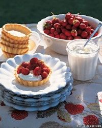 Strawberries-and-Cream Cheesecake Recipe | Martha Stewart