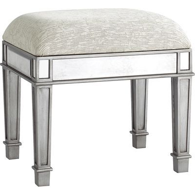 Hayworth Silver Vanity Stool Vanity Seat Vanity Stool Furniture