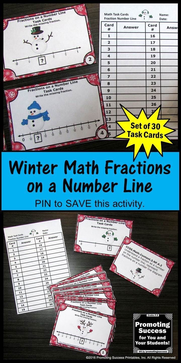 Fractions on a Number Line 3rd Grade Math Review, 2nd Grade Winter ...