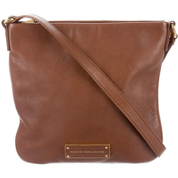 24565c986c30 Pre-owned Marc by Marc Jacobs Grained Leather Messenger Bag ( 95) ❤ liked