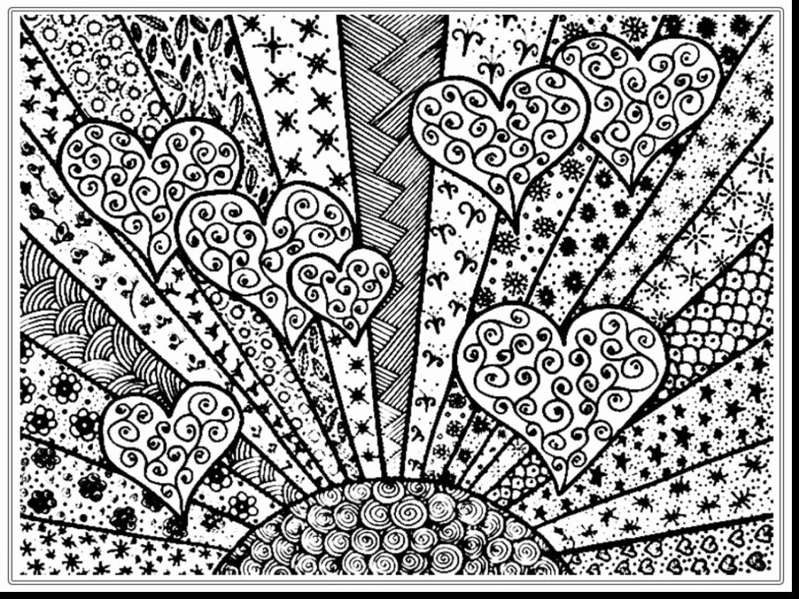Complex Coloring Pages For Adults Heart Coloring Pages Free