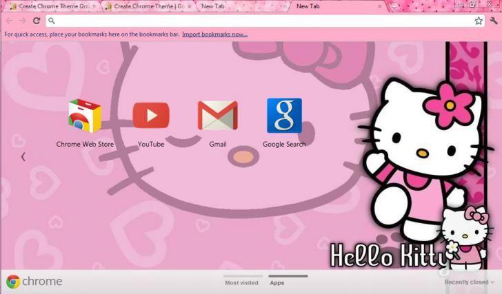 Hello Kitty Theme Chrome Theme Themebeta Hello Kitty Themes Hello Kitty Theme