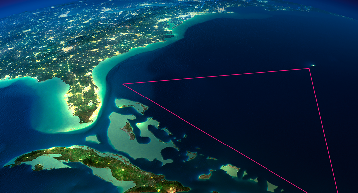 Image of the Bermuda Triangle from Space..this is a great ...