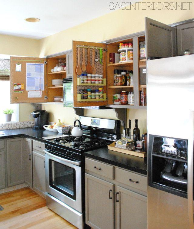 Redo Kitchen Cabinet Doors: 11 Surprising Ways To Organize Using Cabinet Doors