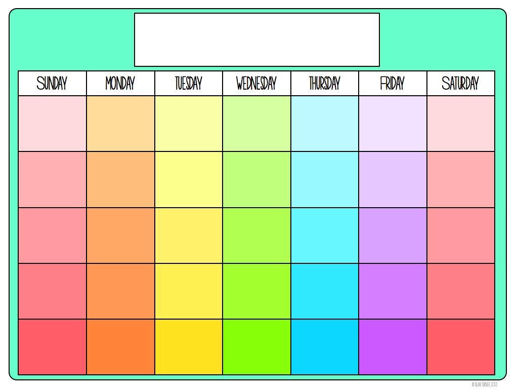 Fitness Calendar Paint Chip Calendar Print Calendar Paint Chips