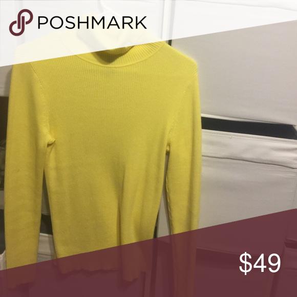 Yellow Ralph Lauren Turtleneck Ribbed yellow long sleve sweater Lauren Ralph Lauren Tops Tees - Long Sleeve
