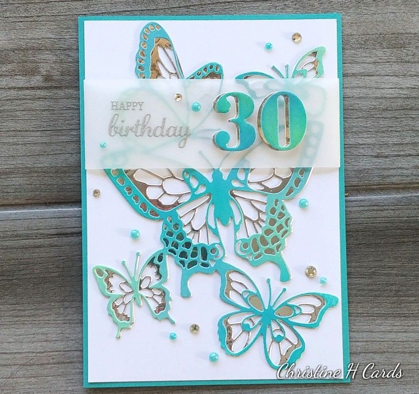 Female 30th Birthday Card For My Daughter Stampin Up Butterfly Beauty Uniquely Creative Number 30th Birthday Cards Birthday Cards For Women Birthday Cards