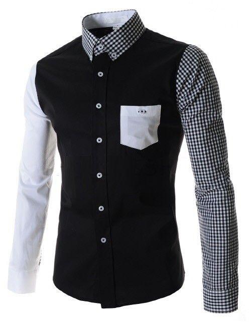 Camiseta de Manga Corta con Cuello en V para Hombres con Botones + Pantalón Corto de Color Puro con Bolsillos Mono Moda para Hombre con… Ja2Qb