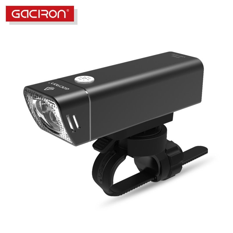 Gaciron New V9f 600 Lumens Led Flashlight Bike Light Wide Floodlight Rechargeable Ipx6 Waterproof Cycling Bicycle Accessories