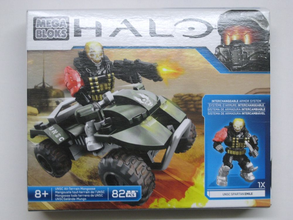 10pcs HALO MEGA BLOKS UNSC GRAY SPARTAN Mini Figure Boy Toy Collection