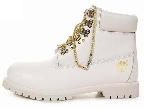 Timberland Women's Gold Chain Boots White | Timberland 6