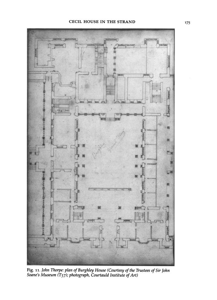John Thorpe: plan of Burghley House