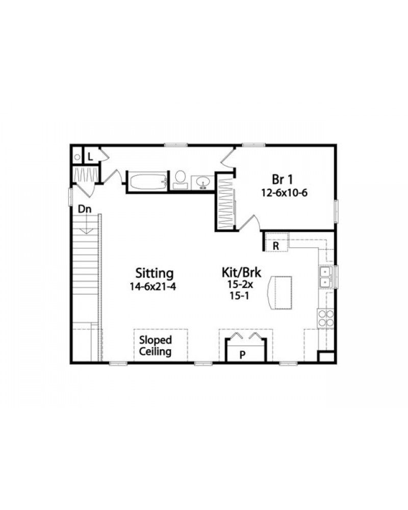 Garage conversion floor plans house plan rds2304 - Garage conversion floor plans ...