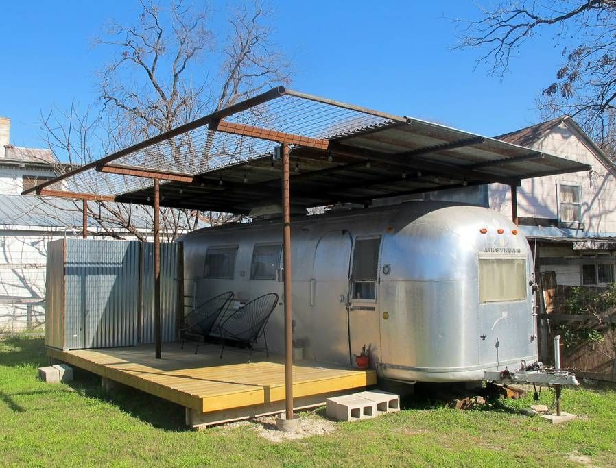 Southtown Airstream Campers Rvs For Rent In San Antonio Texas United States Trailer Deck Trailer Home Airstream