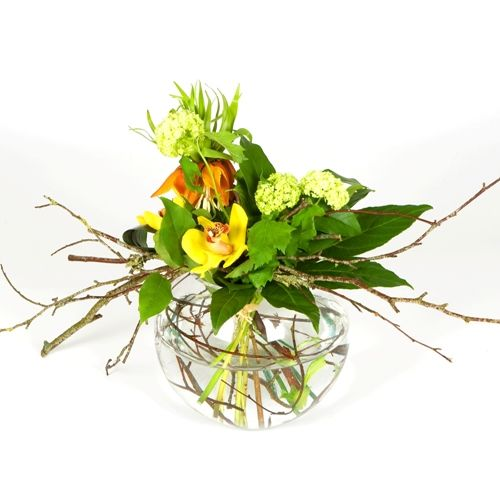 Contemporary Arrangement In Fishbowl Vase Google Search 3rd St