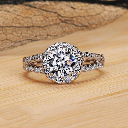 14K White Gold Diamond Engagement Wedding Ringtop jewelry diamond