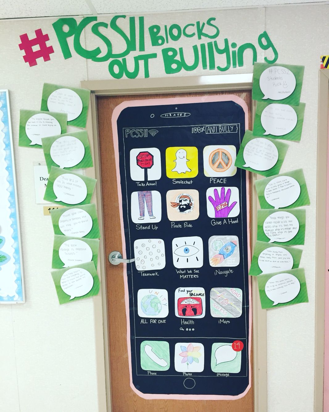 Anti-bullying door decoration | Work related pins ...