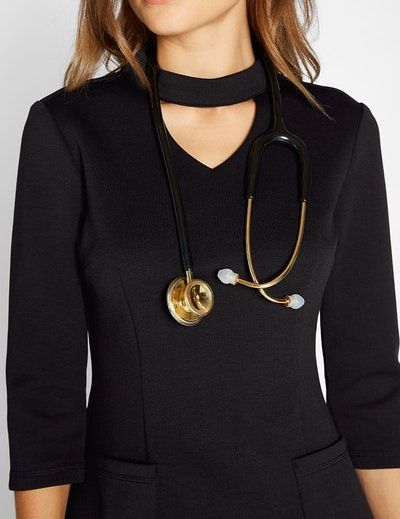 Mock Neck Top in Black Medical Scrubs Medical scrubs