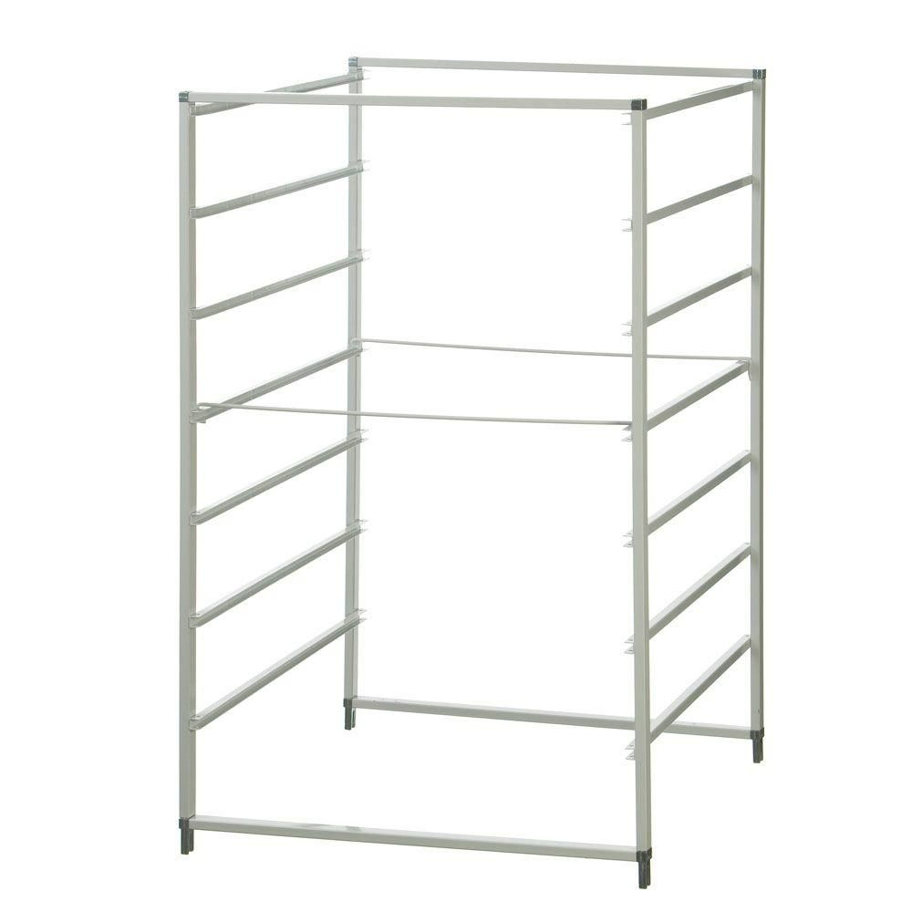 Closetmaid 20 In X 29 In 7 Runner Cross Bar Set For Ventilated Wire Drawer 76205 The Home Depot In 2020 Closetmaid Closet Drawers Drawers