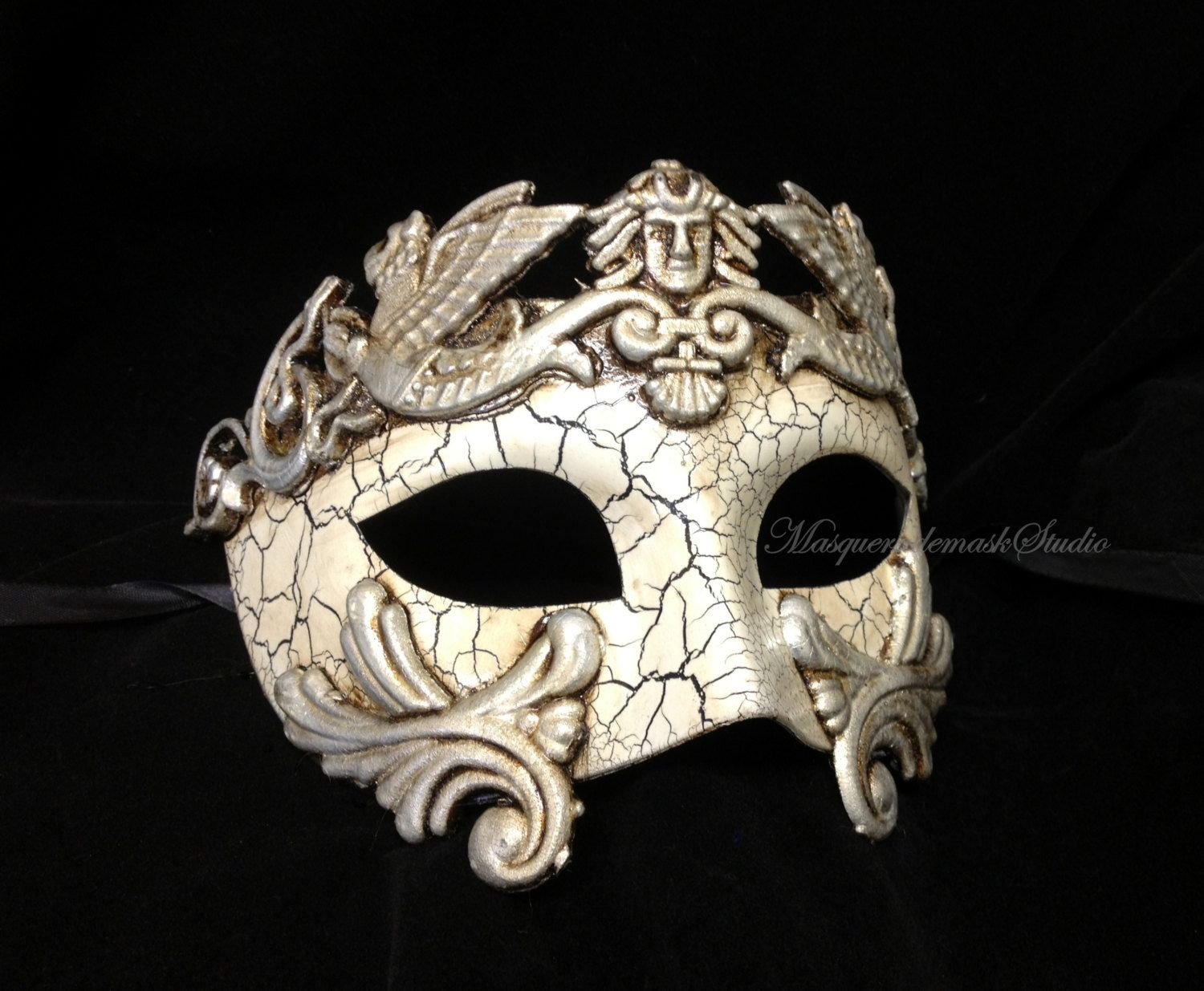 How To Decorate A Mask For A Masquerade Ball Mens Masquerade Mask For Men Romanmasquerademaskstudio On Etsy